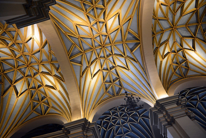 Vaulted ceiling of Lima's Cathedral, Peru