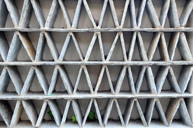 Geometric Cycladic wall design in Tinos island, Greece