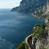 Coastal footpath along the south-facing cliffs of Capri, Italy