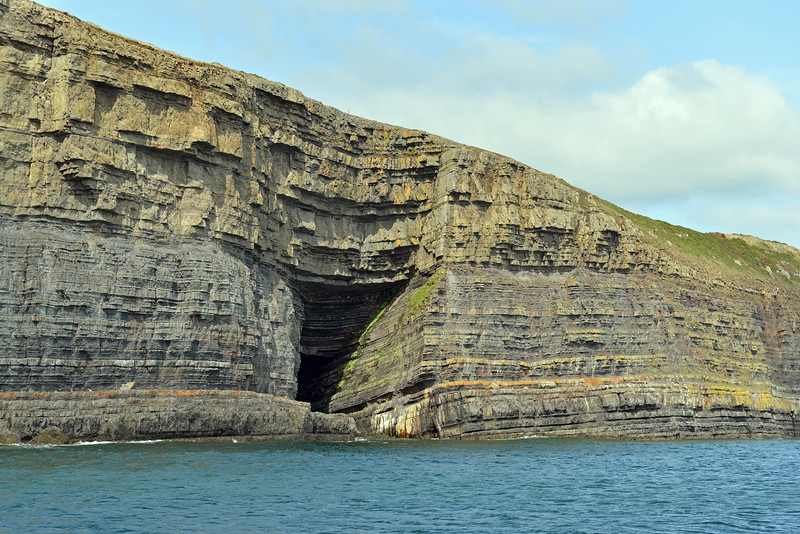 Thick series of Carboniferous deepwater turbidites, at Kilcloher Head in County Clare, west Ireland