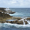 Wave-cut platform on uplifted coral reefs along windward northcoast, Shete Boka national park in Curaçao