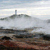 Reykjanes lighthouse and geothermal field, southwest Iceland