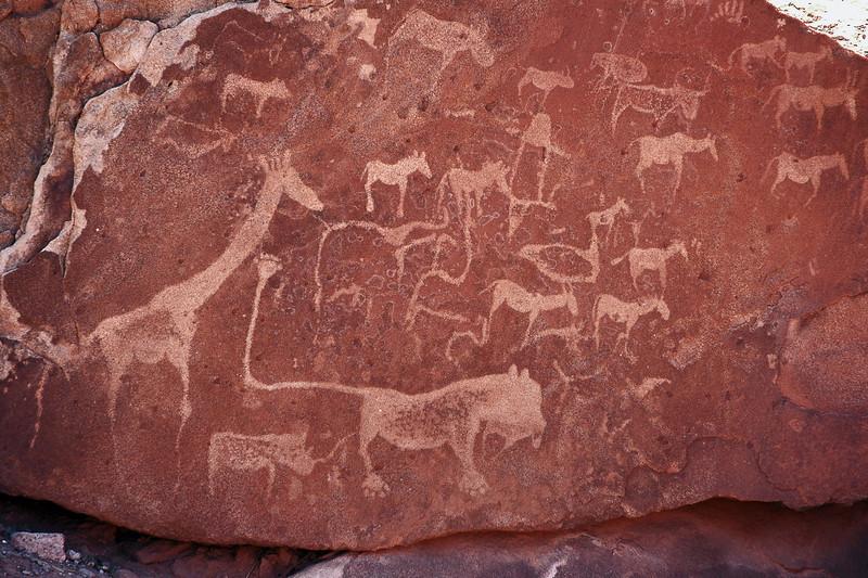 Petroglyphs at Twyfelfontein, Namibia
