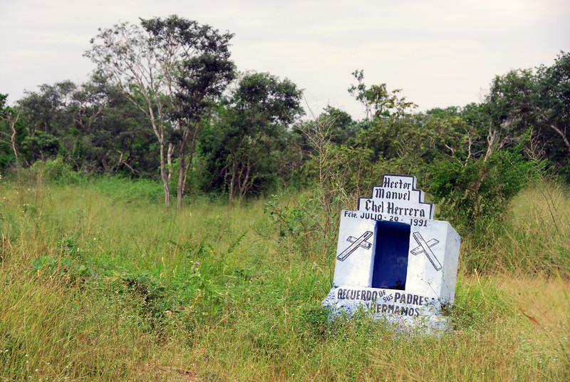 Memorial for departed family member in Yucatan, Mexico