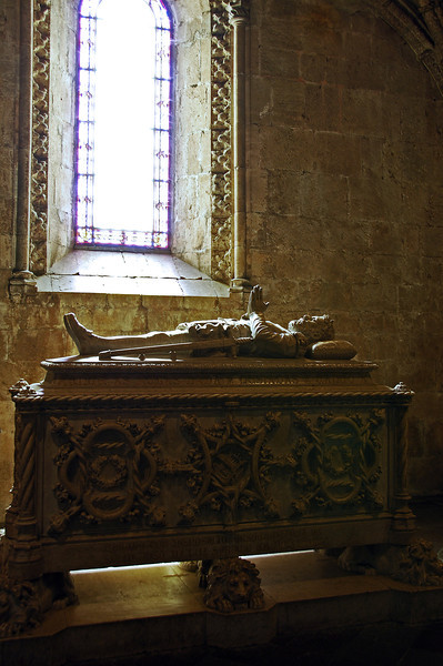 Tomb in the Jeronimos monastery in Lisbon, Portugal