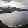 View over the island of Vulcano from the coastal cliffs of Lipari, Italy