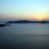 Sunset over the Santorini caldera, Greece