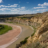 A sunnier view on Wind Canyon Trail overlooking the Little Missouri River