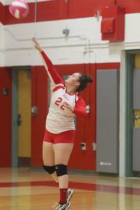 no.22, Rylee Kalis Point Pleasant Beach High School girls volley ball v/s Lacey High School in Point Pleasant Beach, NJ on 9/10/18. [DANIELLA HEMINGHAUS | THE OCEAN STAR]