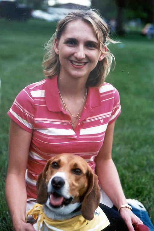 Beagle Ernie and his mom.
