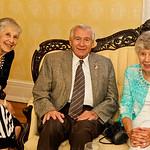 Mary Ann and Jerry Hubbs with Mary Eileen Sandmann.