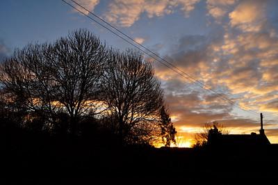 Sunrise over Lagden Farm