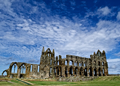 Whitby Abbey on a sunny Monday afternoon