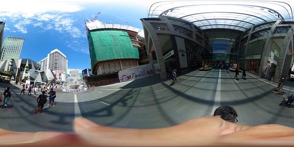Exploring Bukit Bintang through the unique perspective of the Theta S