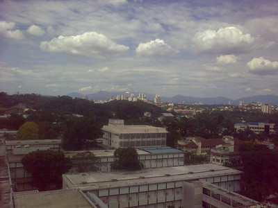 View from the 13th floor of PPUM