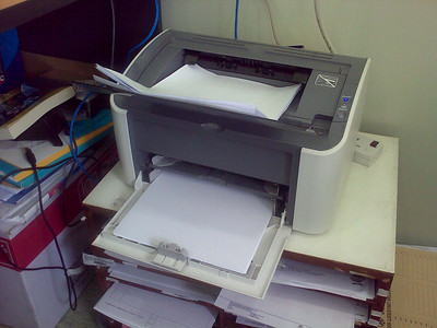 This printer is working overtime