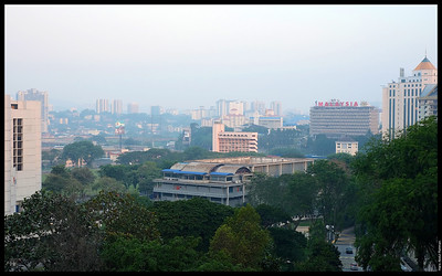 Rather hazy. The unmistakeable Angkasapuri in the background.