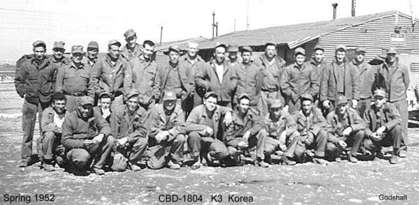 CBD-1804, the first Seabee unit to be attached to the 1st Marine Air Wing at K3 Korea (Oct. 1951).  The summer of 1952, the unit's name was changed to CBMU-1, and in Oct. 1953 was once again changed to CBMU-101.  Photos courtesy of Scott Williams/Charles Godshall.