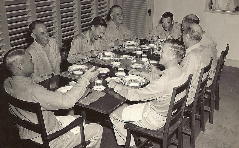 This is a photo of furniture in Admiral Hoover's quarters on Guam that was designed and made by my Dad and his men in his shop on Saipan.<br /> My Dad went on top make many of the mansions in Rhode Island and Cape Code, Maine look amazing after his return from Saipan.<br /> Yes, my son Jordan and I are very proud to be descended from Manuel Francis Rosa.