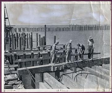 75th Seabees building a wharf on Samar, Philippines -  2/5/45.