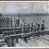 75th Seabees building a wharf on Samar, Philippines -  2/5/45.