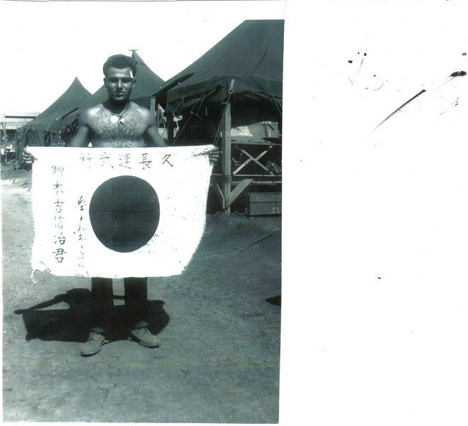 Joe Garofalo (121st CB) With Souvenie on Saipan