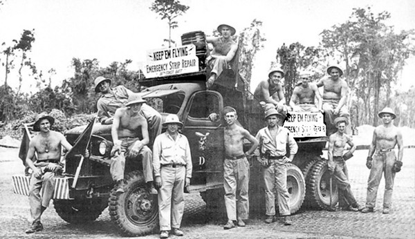 36th Seabees on Bougainville.