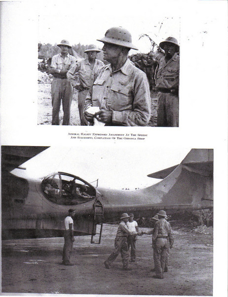 "82nd NCB Officers Greet ""Bull"" Halsey at Munda-1943"