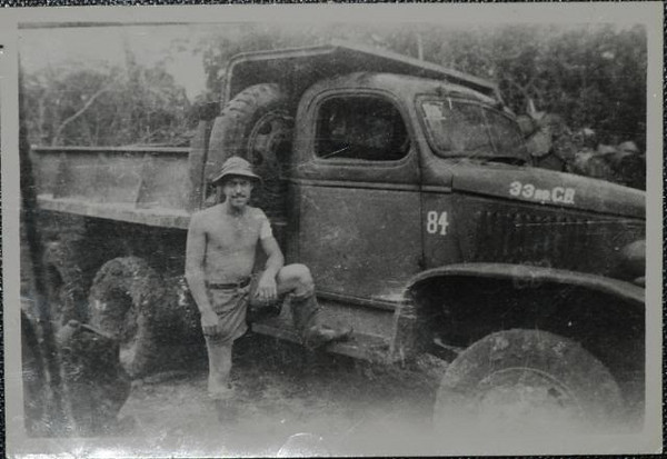 A 33rd Seabee and his truck.