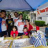 The Molinari Family, of Fitchburg, raised money for the Leukemia Lymphoma Society on Saturday afternoon with a lemonade stand on Hancock Street. Five-year-old Thiago Molinari has been battling Leukemia for three years now. From left; Nico Sosa, 16, Gabriel Goncalves, mom Gabriela Molinari, dad Nestor Molinari, godmother Belky Molinari, Karina Molinari, Thiago Molinari, 5, and Julieta Molinari, 1. SENTINEL & ENTERPRISE / Ashley Green