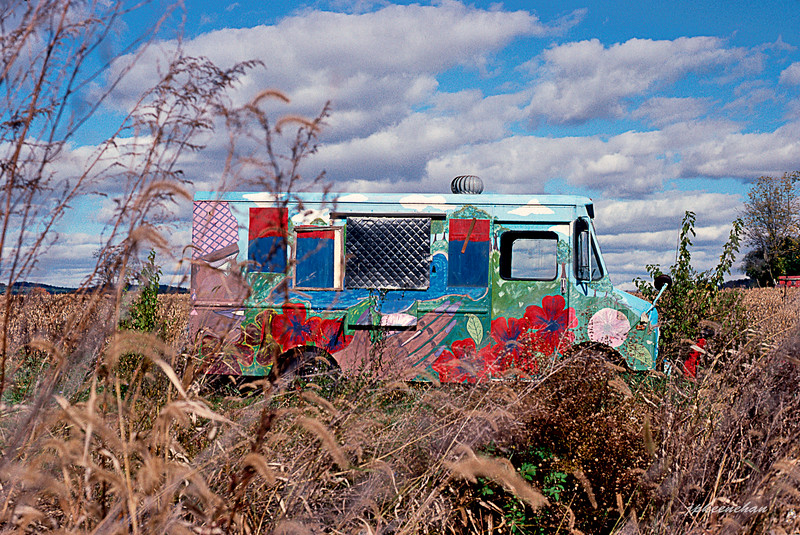 Painted Van in a Cornfield in Berks County, Pennsylvania