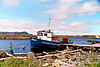 """Blue Fishing Boat""  in Ferryland, Newfoundland 2005"