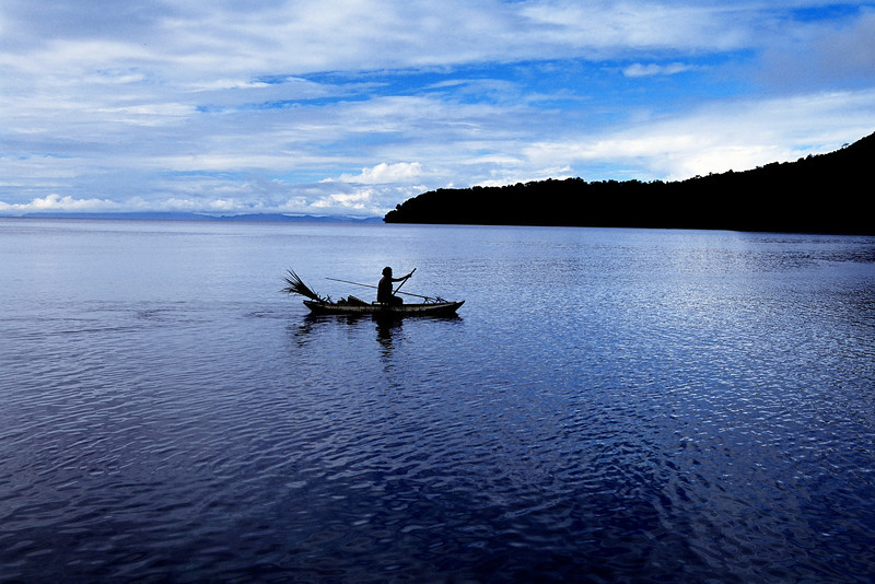 Early Morning Commute, Milne Bay Province  PNG 2008
