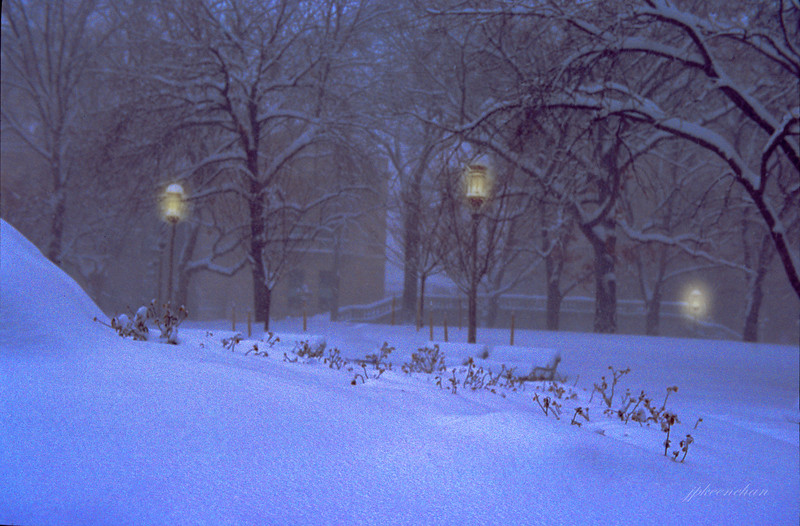 'Twilight and Snow' on Harrisburg Capitol Grounds Feb 2010