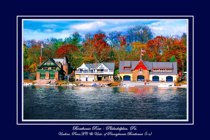 Undine, Penn-AC and University of Pennsylvania Boathouses in Philadelphia, Pa.