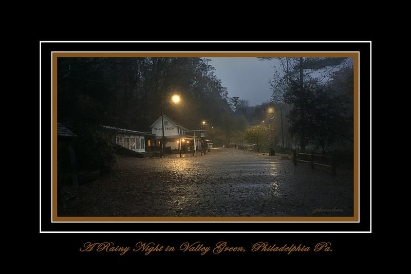 A Rainy Night in Valley Green, Philadelphia, Pa.