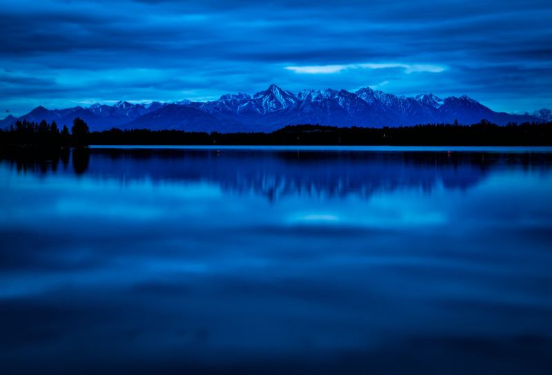 blue hour at wasilla lake