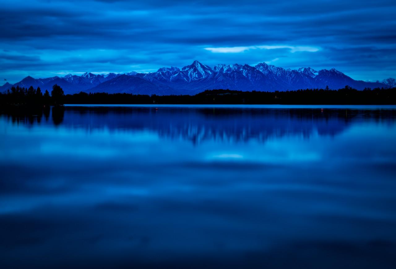 blue hour at wasilla lake