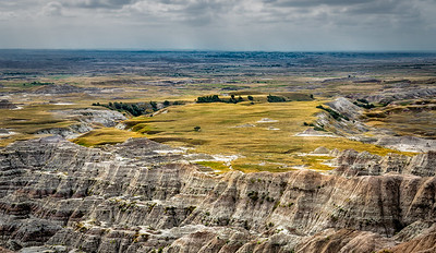 a plateau in the badlands