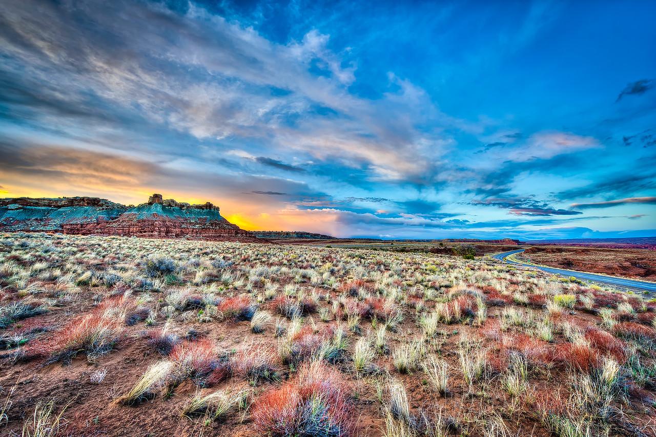a brilliant sunset in utah