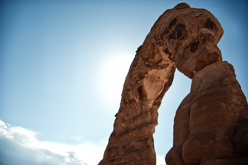 delicate arch in the sun