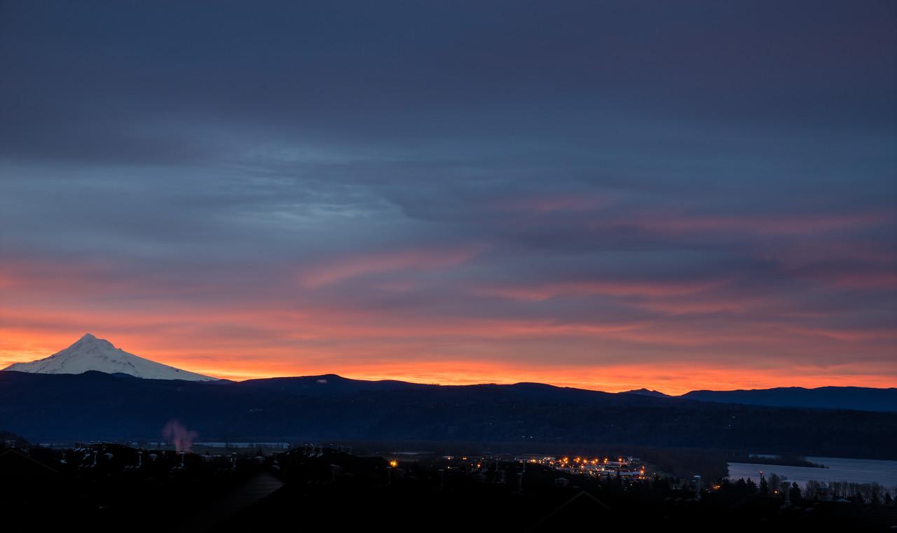 sunrise on the hood