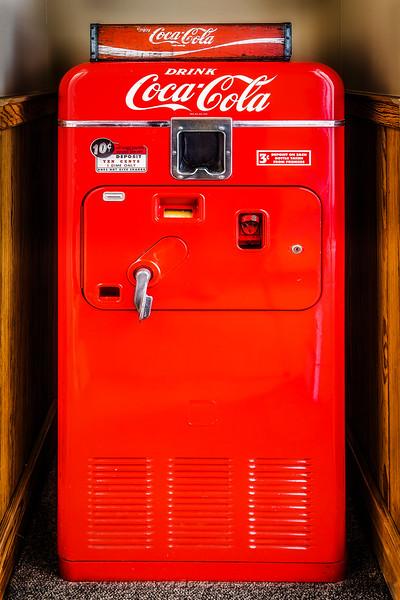 Vintage Vendo 33 Coke Machine, Elgin TX.  16-35mm
