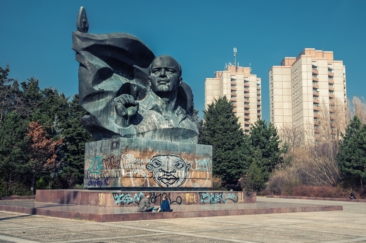 I'm fascinated by the Soviet-ness of the Thalmann Statue. The DDR apartments in the back don't hurt either.