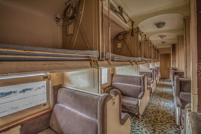 Train Sleeper Car, Galveston Train Museum.