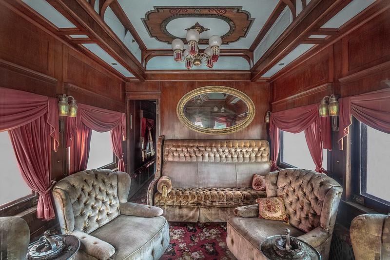 Luxury Railway Car, Galveston Train Museum.