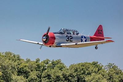 T6 at Spring Air Fair at the Pioneer Flight Museum in Kingsbury, TX.