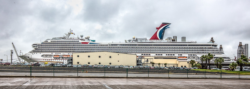 Carnival Valor docked at Galveston TX.