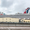 Carnival Valor docked at Galveston TX.