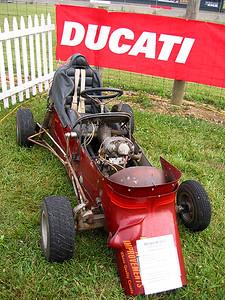 Ducati single powered racecar